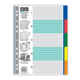 Διαχωριστικά Πλαστικά Χρωματιστά A4 5 Θεμάτων Skag