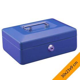 Μεταλλικό Κουτί Ταμείου 30Χ23Χ9cm Με Θήκη