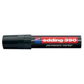 Edding 390 Μαρκαδόρος Ανεξίτηλος Πλαστικός μαυρο