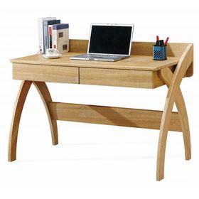 Γραφείο υπολογιστή καφέ με 2 συρτάρια