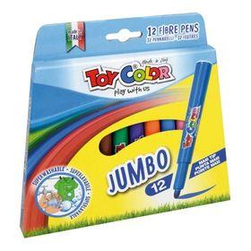 Toy Color Μαρκαδόροι Χοντροί 12τμχ