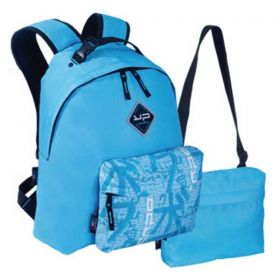 Bodypack Τσάντα Πλάτης με 2 Τσαντάκια Make My Pack Γαλάζιο