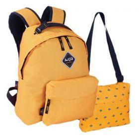 Bodypack Τσάντα Πλάτης με 2 Τσαντάκια Make My Pack Κίτρινη