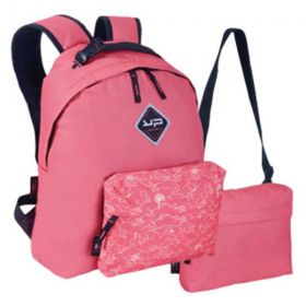 Bodypack Τσάντα Πλάτης με 2 Τσαντάκια Make My Pack Coral