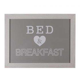 Δίσκος με Μαξιλάρι Bed - Breakfast Γκρι 41x28εκ.