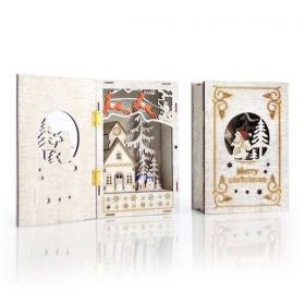 Χριστουγεννιάτικο Διακοσμητικό Κουτί - Βιβλίο Φωτιζόμενο με 4 LED