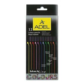 Adel ξυλομπογιές Blackline natural body 12 χρώματα