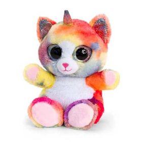 Λούτρινα 15εκ Animotsu Γάτα Πολύχρωμη