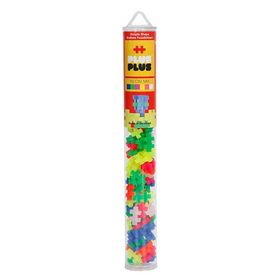 Plus Plus Τουβλάκια σε Σωλήνα 100τεμ Neon