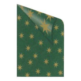Rainbow Χαρτόνι πρασινο με Χρυσά Αστέρια 50x70εκ