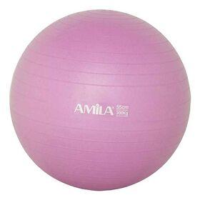 Μπάλα Γυμναστικής Amila Anti-Burst 55cm Ροζ