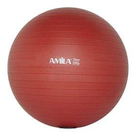 Μπάλα Γυμναστικής Amila Anti-Burst 75εκ. Κόκκινη