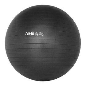 Μπάλα Γυμναστικής Amila Anti-Burst 75εκ. Μαύρη
