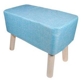 Σκαμπό Υφασμάτινο Γαλάζιο Υ37x50x27εκ.