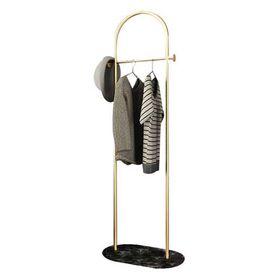 Κρεμάστρα Ρούχων Δαπέδου Μεταλλική Χρυσή με Μαύρη Βάση Υ170x50x30εκ.
