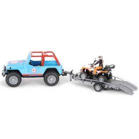 Jeep Cross 4X4 Μπλε με Οδηγό και Γουρούνα Bruder