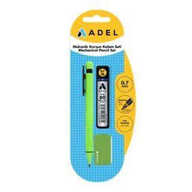 Σετ Μηχανικό Μολύβι 0,7mm Μύτες και Σβήστρα Adel