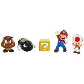 Σετ 5 Φιγούρες Super Mario Acorn Plains