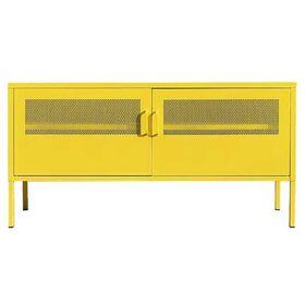 Έπιπλο Τηλεόρασης Μεταλλικό με 2 Πόρτες Nextdeco Κίτρινο Υ60x118x40εκ.