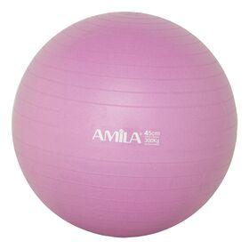 Μπάλα Γυμναστικής Amila Gymball 45εκ. Ροζ Bulk