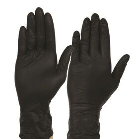 Γάντια Βινυλίου μίας Χρήσης Μαύρα M 100τεμ.