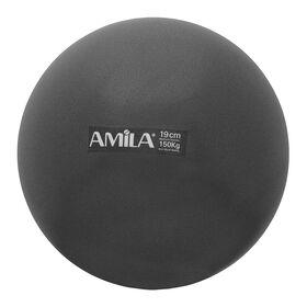 Μπάλα Pilates Amila 19cm Μαύρη Bulk