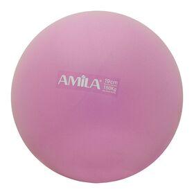 Μπάλα Pilates Amila 19cm Ροζ Bulk