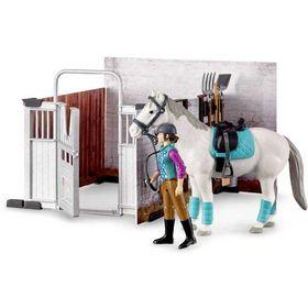 Στάβλος με Άλογο και Αναβάτρια Bruder