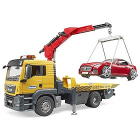 Φορτηγό MAN Οδικής Βοήθειας με Γερανό & Αυτοκίνητο Bruder