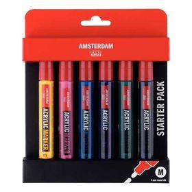Talens Amsterdam Σετ Ακρυλικοί Μαρκαδόροι 4mm 6τεμ