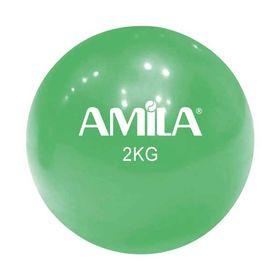 Μπάλα Γυμναστικής Amila 2kg. 13cm. Πράσινη
