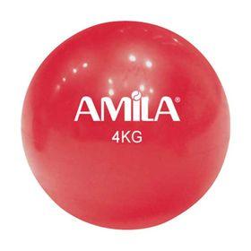 Μπάλα Γυμναστικής Amila 4kg. 16cm. Κόκκινη