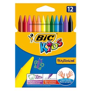Κηρομπογιές Bic Kids Plastidecor 12τμχ
