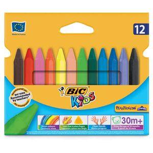 Κηρομπογιές Bic Kids Plastidecor Triangle 12τμχ