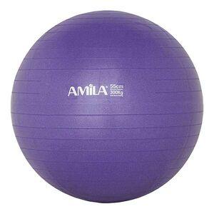 Μπάλα Γυμναστικής Amila Anti-Burst 55εκ. Μωβ