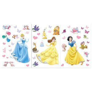 Αυτοκόλλητο Τοίχου Πριγκίπισσες της Disney (3 Φύλλα)