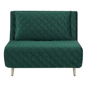 Πολυθρόνα Κρεβάτι Barcelona Πράσινο Καπιτονέ Υ83x106x92εκ.