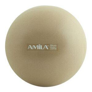 Μπάλα Pilates Amila 19cm Χρυσή Bulk