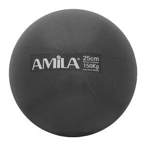 Μπάλα Pilates Amila 25cm Μαύρη Bulk