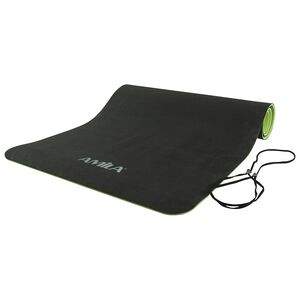 Στρώμα Γυμναστικής Amila Performance Mαύρο/Lime 150x61εκ. 6χιλ.