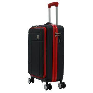 Βαλίτσα Καμπίνας Χειραποσκευή Τρόλευ Herzberg HG-8063BLK Μαύρη