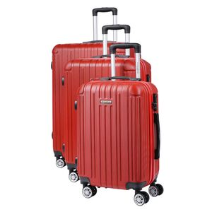 Σετ Βαλίτσες με Χειραποσκευή 3τεμ. Manoukian Paris MAN-45-R Κόκκινες