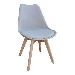 Καρέκλα MARTIN με Ξύλινο Σκελετό και Γκρι Κάθισμα Y82x49x57εκ.