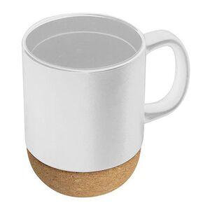 Κούπα Κεραμική 350ml Λευκή με Βάση από Φελλό