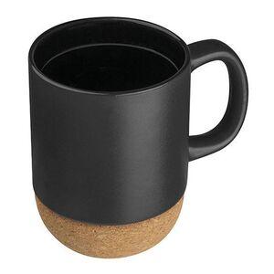 Κούπα Κεραμική 350ml Μαύρη με Βάση από Φελλό