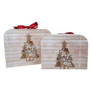 Χριστουγεννιάτικα Κουτιά Χάρτινα με Δέντρο 2τεμ.
