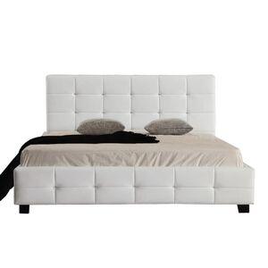 Κρεβάτι Διπλό FIDEL Άσπρο Y107x215x158εκ.