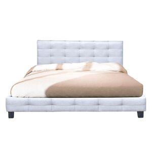 Κρεβάτι Διπλό FIDEL Γκρι Y107x215x188εκ.