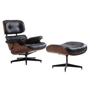 Πολυθρόνα με Σκαμπώ RELAX Μαύρη Υ89x62x60εκ.